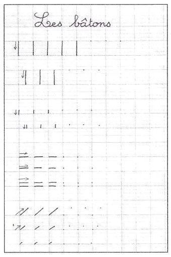 école : références: Les tracés fondamentaux - l'écriture au CP (2/4) par Rachel Boutonnet