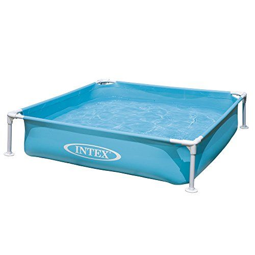 Intex Kinderpool Frame Pool Mini, Blau, 122 x 122 x 30 cm