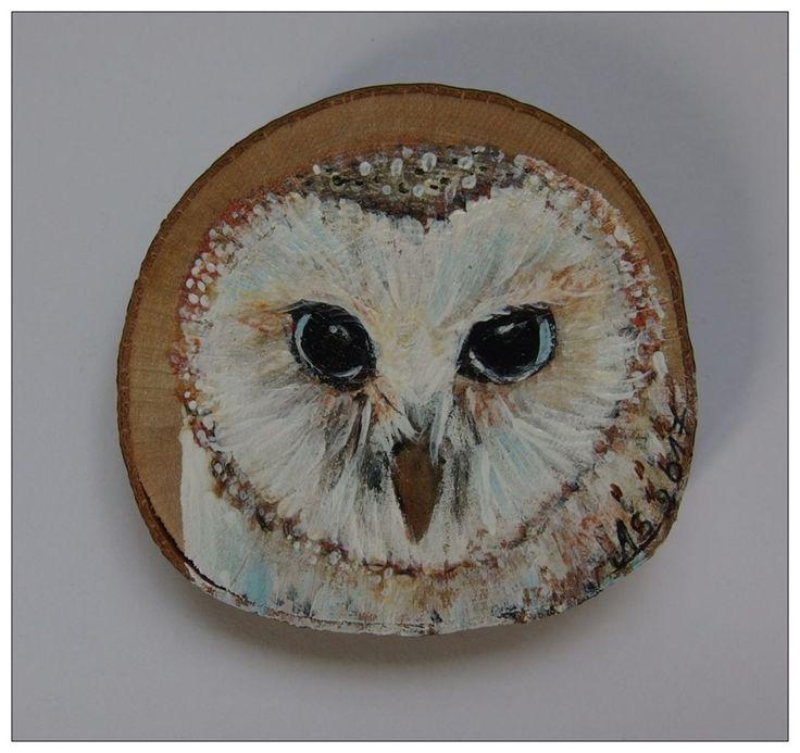 #handmade #handpainted #owl #sowa #płomykówka #ptak #bird #biały #white #fridgemagnet #xantosia #reczniemalowane #drewno #wood #magnes #fridge_magnet #art #nature #gift #prezent