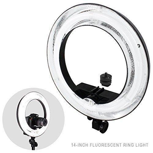 "Julius Studio 14""Outer 10""Inner 400W 5500K Photographic Lamp Ring Fluorescent Flash Light Beauty light Camera Photo Video JSAG217"