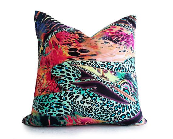 Eclectic Throw Pillow Cover Luxury Bohemian by PillowThrowDecor