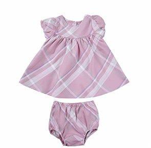 %100 Organik Kısa Kollu Elbise Pink