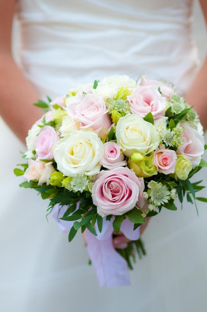Wedding bucket. Flowers.