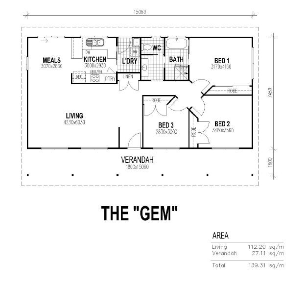 Granny quarters floor plans granny flat floorplans for Floor plan granny flat