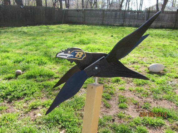 Whirligig de Ravens de Baltimore en bois faits à la main pour votre yard