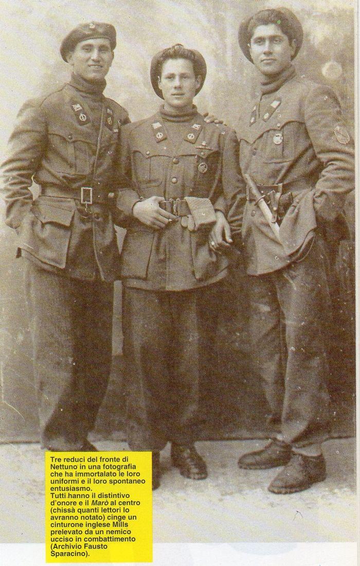 Battaglione Barbarigo - tre reduci dalla battaglia di Nettuno - Anzio, pin by Paolo Marzioli