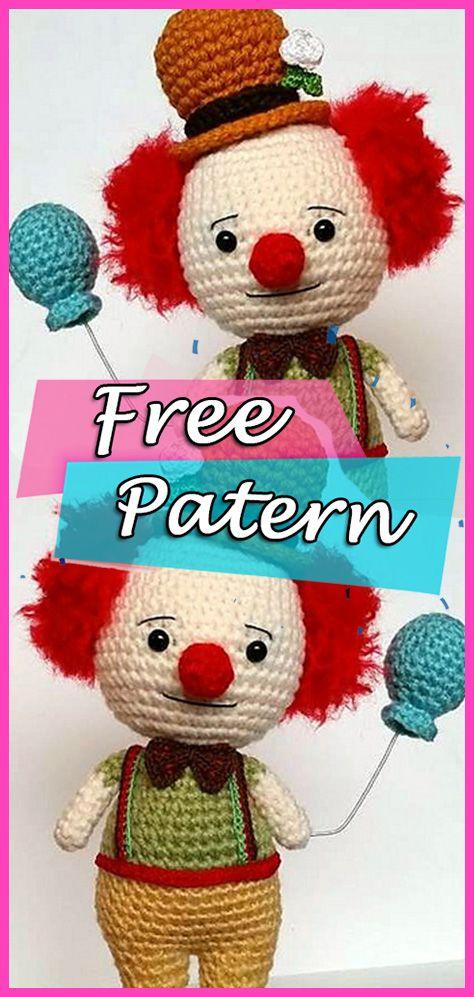 Clown Amigurumi Crochet Free Pattern Softies Doll #amigurumi ...