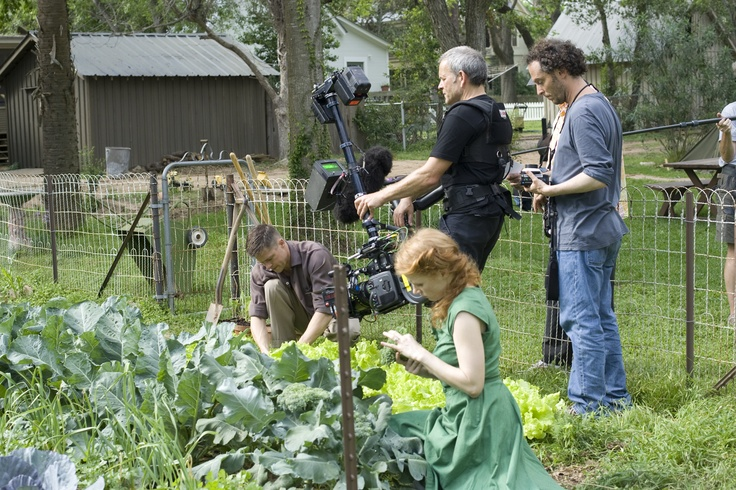 Filming of Terrence Malick's great film The Tree of Life