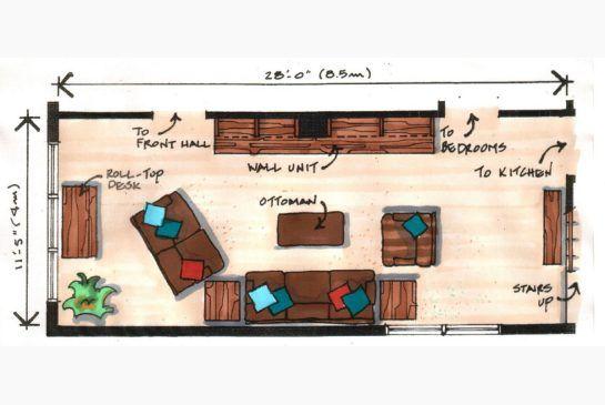 Long Room Needs A Major Focal Point Narrow Living Room