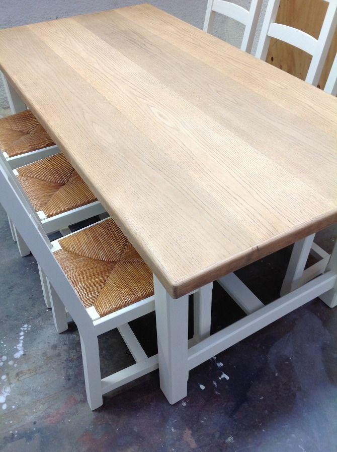 table en chêne, 6 chaises - Mademoiselle Fabrique
