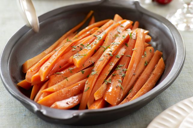 Try these Glazed Carrots that bring some excitement to a pretty plain vegetable. Dress up your carrots in balsamic, brown sugar and butter, then enjoy.