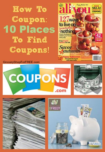 How To Coupon: 10 Places To Find Coupons! This is the first post in the series How To Coupon! Here we are going to talk about the Top 10 Places To Find Coupons, we can't really shop with them until we have them! I want to make a couple of points first. You may see …