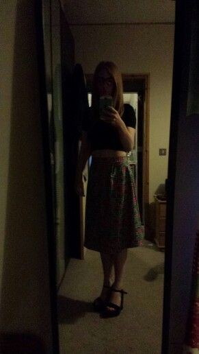 Bad quality Photo but homemade a-line pleat skirt