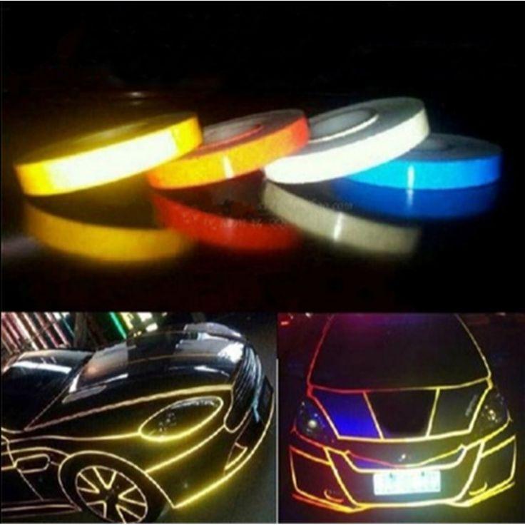 Car-styling Night Magic Cinta Reflectante 1 cm * 5 m Decoración de La Motocicleta de reparación de Carrocerías de Automóviles para toyota kia opel bmw ford renault