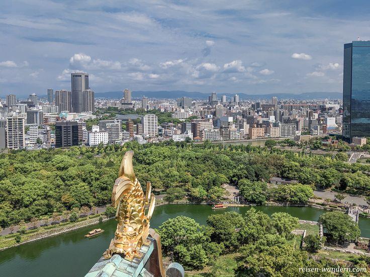 Wenn du auf die Burg in Osaka hinauf steigst, wirs…