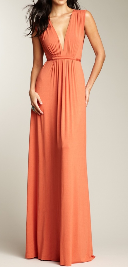 Coral Maxi Dress . Maybe I can do this kind of maxi...most were not made for women with wide hips and a round butt like me :/   Not flattering