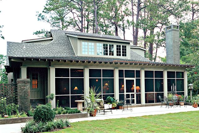 135 best images about the 900 sq ft house on pinterest for Cottage house plans with screened porch