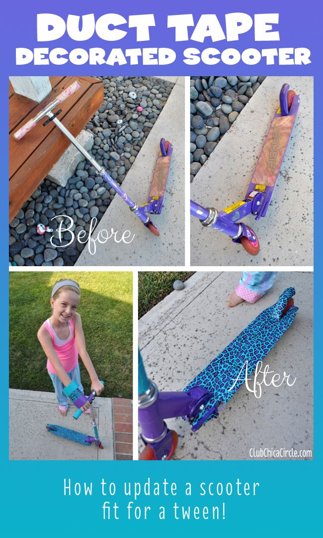 Duck Tape Decorated Scooter craft idea for Tween Girl