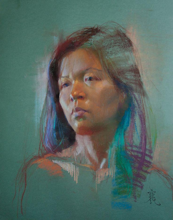Amy, Chalk Pastel on Paper.