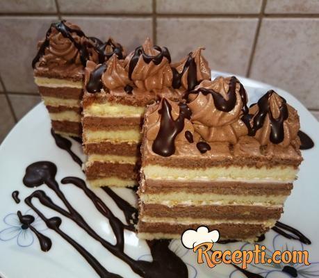 Recept za ДЊokoladne krem ЕЎnite. Za spremanje ovog jela neophodno je pripremiti slatku pavlaku, čokoladu, puter, kakao.