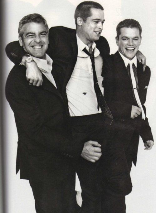 George Clooney, Brad Pitt, Matt Damon - Suits: George Clooney, Dreams Team, The Ocean, Bradpitt, Men Suits, Georgeclooney, Matte Damon, Brad Pitt, Mattdamon