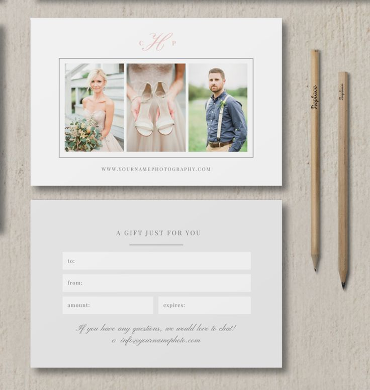 photographer gift card template | photography marketing | bittersweet design boutique