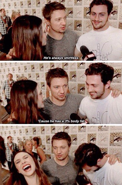 Jeremy Renner talking about Aaron Taylor-Johnson