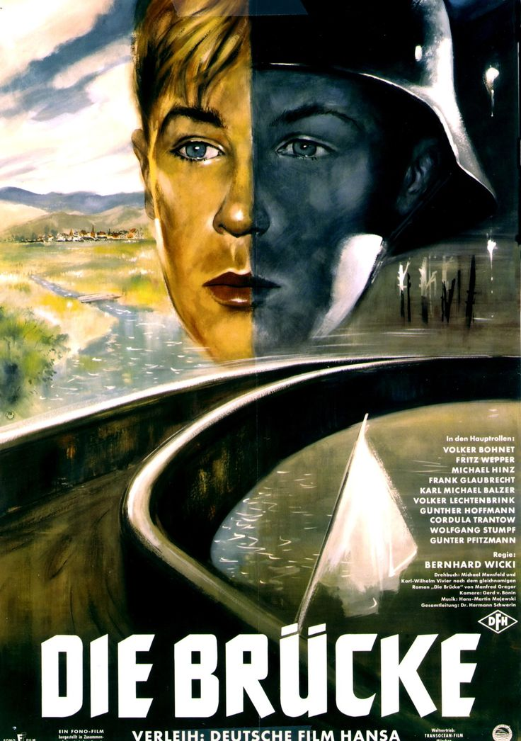 The Bridge (Bernhard Wicki, 1959), set in the closing days of World War Two, it focuses on a group of young men trying to defend their town from the advancing American forces. Find this at 791.43743 BRI