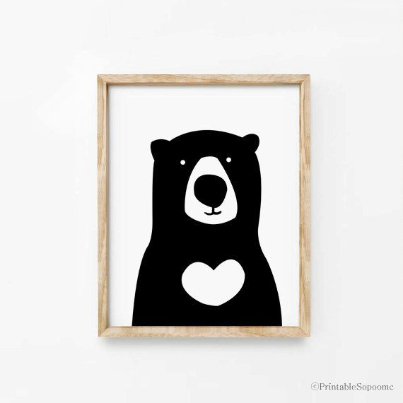 Print  Bear Wall art Cute Home decor poster Kawaii by ARTsopoomc