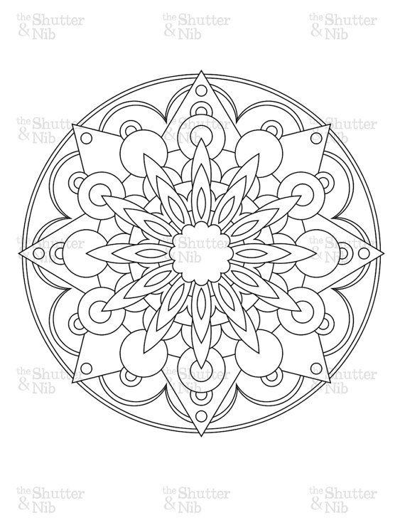 Line Art Mandala : Printable mandala image download coloring book page