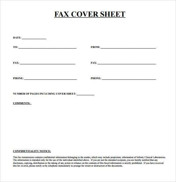Fax Cover Sheets Word Excel Fomats Fax Cover Sheet Cover