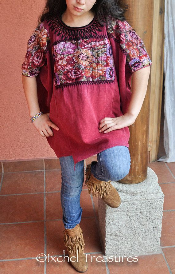 70 best Guatemala Huipil Blouses images on Pinterest | Bluse ...