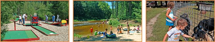 Tamworth Camping Area | Tamworth, NH | 603-323-8031 | Family camping on Swift River, don't forget to say hi to the miniature horses!