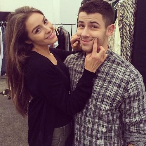 Olivia Culpo and Nick Jonas.
