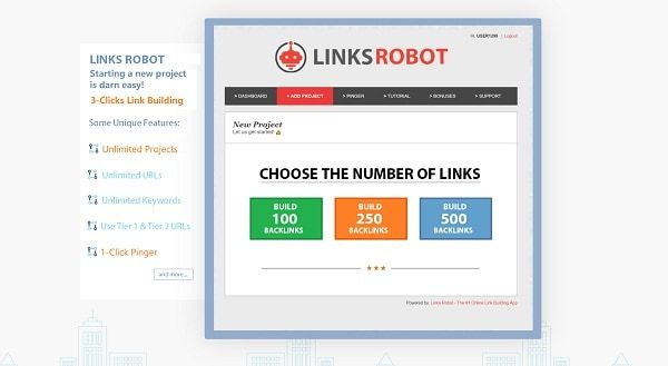 Links Robot – what is it? You don't need 20,000 low-quality backlinks to rank higher, a few hundred powerful authority links can send you to that first page. Links Robot is the first SEO software that build links on domains with High DA / PA / TF / CF and permanent redirects that keep the link juice dripping to your web page.