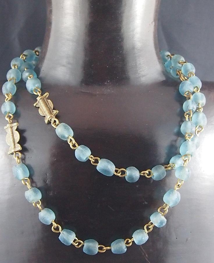 Light blue African Trade beads