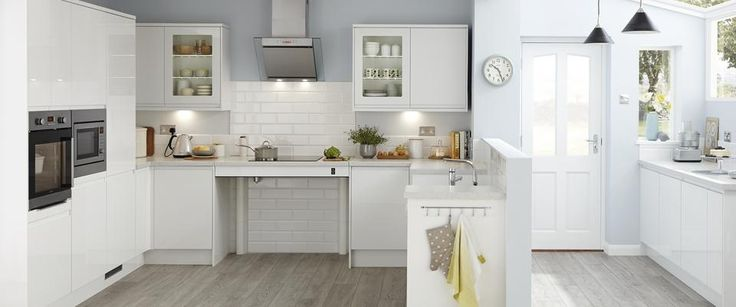 Clerkenwell Gloss White adapted kitchen
