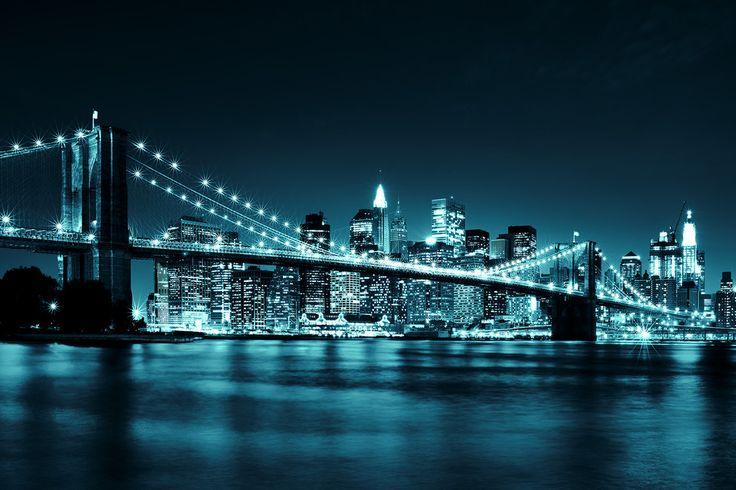 Brooklyn Bridge - Blue