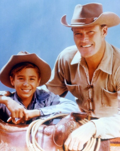 Luke & Mark McCain from the TV show: The Rifleman.  Chuck Connors/Johnny Crawford