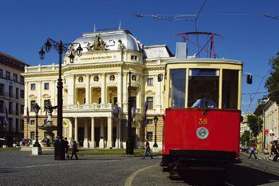Vintage tram ride round town