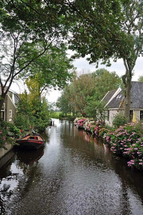 Charming village of Broek in Waterland, Netherlands