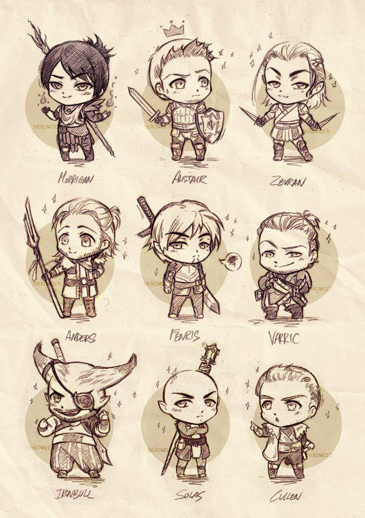 Dragon Age chibis Army by OkenKrow.deviantart.com on @DeviantArt