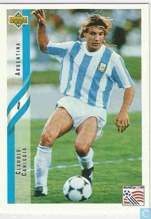 Claudio Caniggia of Argentina in action in 1990.