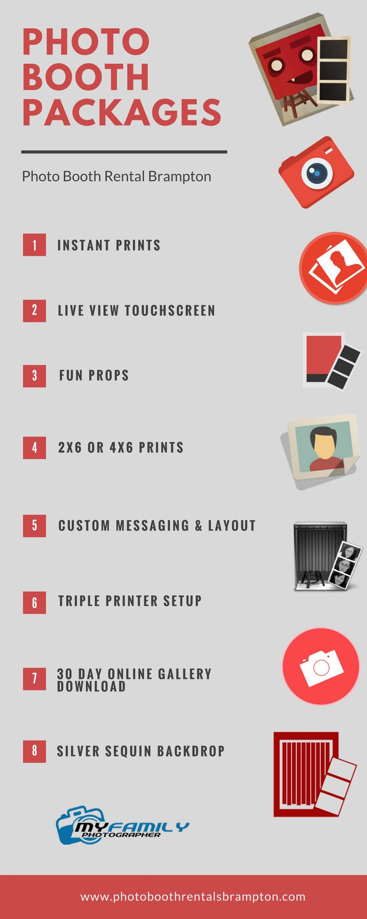 These photo booth rental packages are perfect if you like to give photo remembrances of your occasion. You can have it at reasonable prices and do perfect job maintaining your valuable moments.
