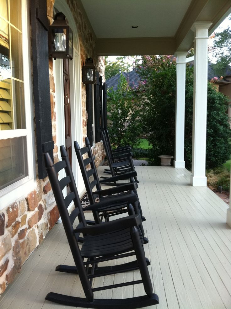 Red Rocking Chairs On Front Porch ~ Best benches porch swings rockers images on