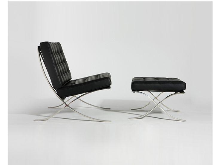 Metropolis Chair + Ottoman