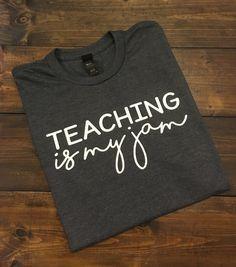 Teaching Is My Jam Teacher Shirt Teacher T-Shirt by MissyLuLus