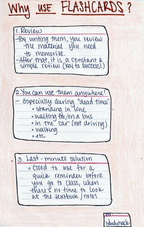 Some benefits to using flashcards when studying