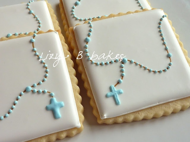 Lizy B - baptism cookies -- i should remember this for marion