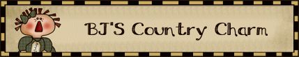 BJ'S Country Charm - Handmade Country Primitive Homespun Valances, Country Style Curtains, Dolls Decor & More